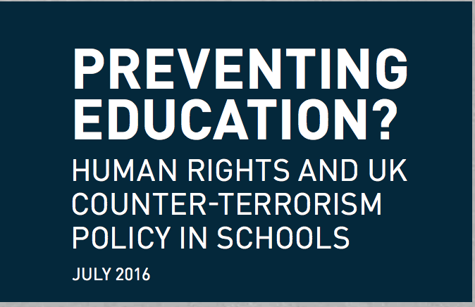 Preventing Education? Human Rights and UK Counter-Terrorism Policies in Schools